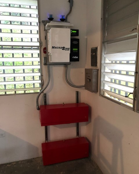 Ceiba Inverter and Batteries Installed Wide