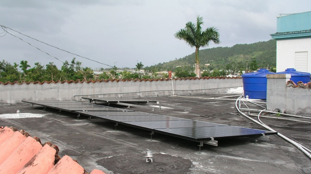 Completed solar array