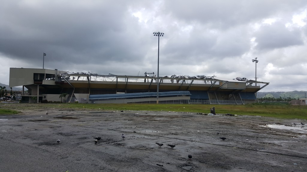 Yabucoa baseball stadium destroyed
